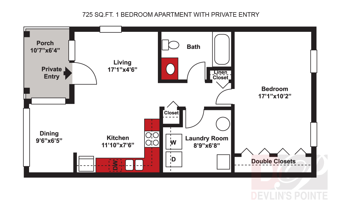 Devlin\'s Pointe Apartments & Townhomes - Floor Plans